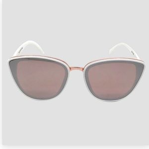 Accessories - Ivory/Rose Gold Cateye Sunnies